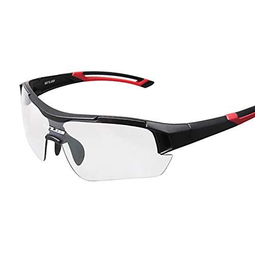 Sytauuan Fahrradbrille, sanddicht, für Damen und Herren, rot
