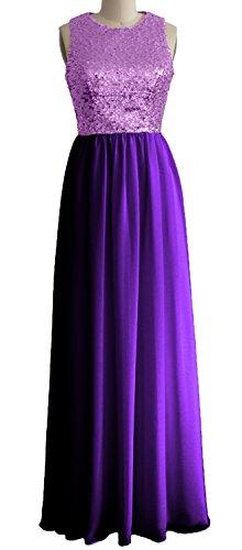 MACloth - Robe - Trapèze - Sans Manche - Femme Lavender-Purple