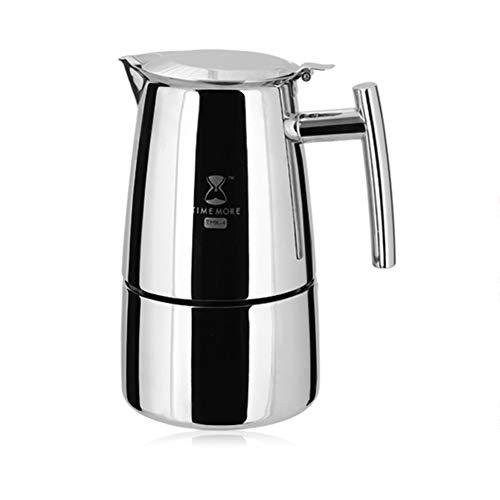 Edelstahl Kaffeekanne 300Ml, Kann 6 Tassen Kaffee, Kaffeemaschine Zu Hause Machen
