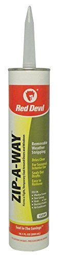 red-devil-0606-zip-a-way-101-oz-clear-removable-weather-stripping-caulk-quantity-6-by-red-devil