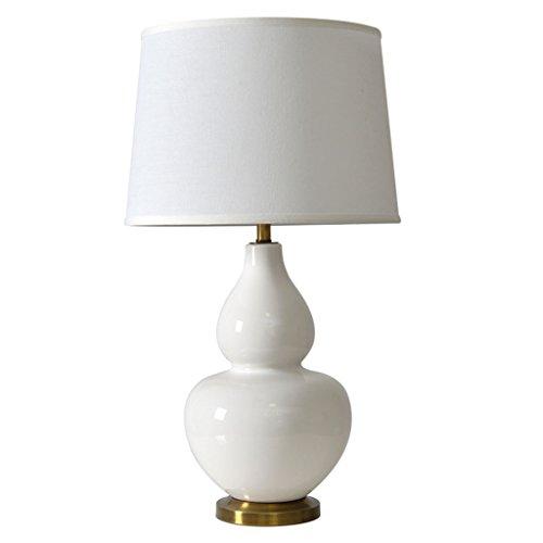 ZCJB Tischleuchte Amerikanischen Stil Einfache Keramik Weiß Kürbis Tischlampe Schlafzimmer Nachttischlampen Hotel Gästezimmer Nachttischlampe Schreibtischlampe Schmuck Lampe Nacht Lichter