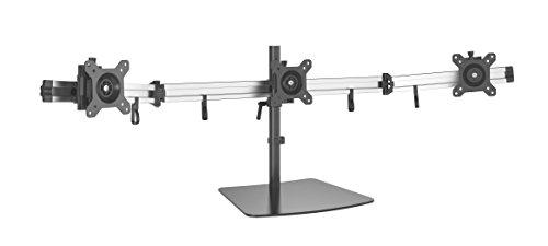 HFTEK 3-Fach Monitor Tisch Stand Ständer Halterung Halter Tischhalterung für 3 Bildschirme von 15 – 27 Zoll (MP230S-L)