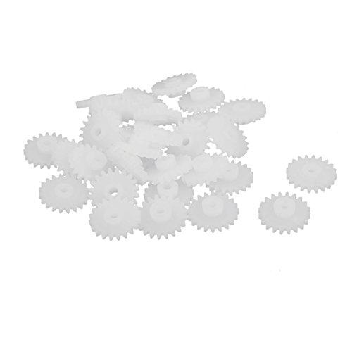 sourcingmap 30PCS 20 Zähne 2mm Lochdurchmesser Plastik Zahnrad für RC Spielzeug Auto