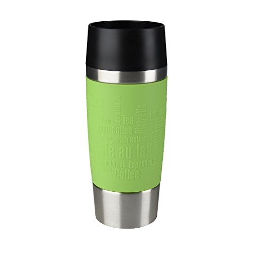 Emsa 513548 Isolierbecher, Mobil genießen, Quick Press Verschluss, Travel Mug, 360 ml, limette