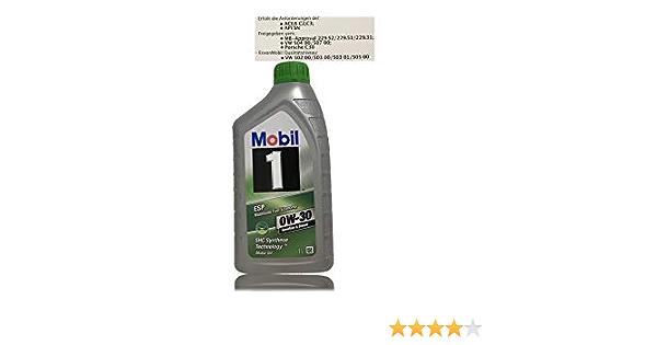 Mobil 1 Esp 0w 30 Motoröl Acea C2 C3 Freigegeben Gem Mb Approval 229 31 229 51 229 52 Auto