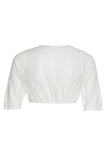 DISTLER Dirndlbluse im Retro-Stil, Damen Damen-Bluse,Dirndl-Bluse,Weiße Dirndl-Bluse, Weiß