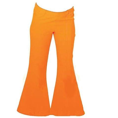 Orange Schlaghose Flower Power Hippie 70er Jahre 38