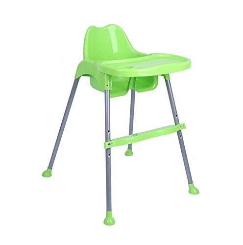 Onfly Beweglicher Faltbarer Babyhochstuhl, Junior Seat, Contempo Hochstuhl, entfernbarer Behälter, Multifunktionsspeisestuhl, Heraus Essen Tisch und Stuhl (Farbe : Grün) -