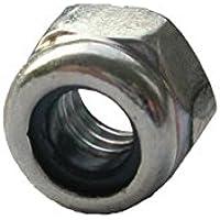 100 Sechskantmuttern DIN 985 10 M10x1 verzinkt Stahl