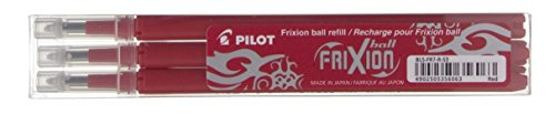 Pilot 006658 Refill per Penna a Sfera Frixion Ball Pilot, Rosso, 0.7 mm, 006658 Confezione da 3
