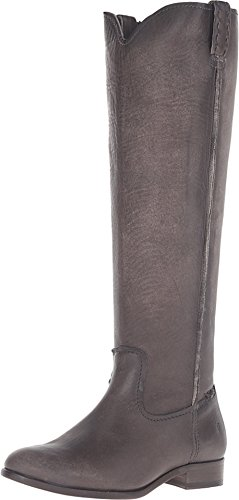 FRYE Women's Cara Tall Wide Smoke Extended 6 B US B (M) -