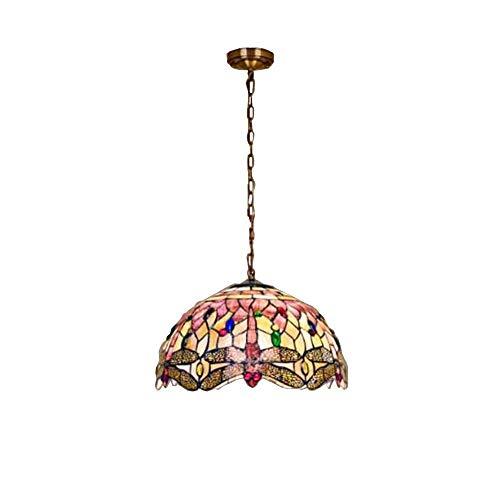 Esszimmer Sammlung Sammlung (WQ Tiffany Kronleuchter, Glasmalerei Licht, verwendet in Wohnzimmer Esszimmer Deckenleuchte Glas Metall Innenleuchte,40cm)