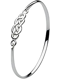Heritage Sterling Silver Celtic Figure of Eight Bangle