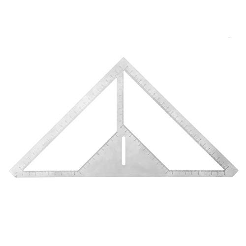 Winkelmesser Messlineal Geschwindigkeit Quadrat Dach Dreieck Winkelmesser Messwerkzeug Digital Winkel Lineal Langlebig Winkelmesser (Color : Silver)