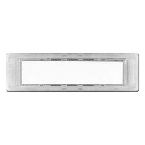 KNOBLOCH Namensschild für Briefkasten-Anlagen 74,4 x 22 mm transparent aus Kunststoff