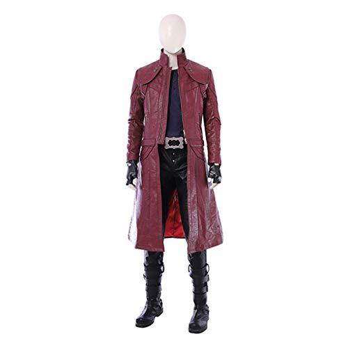 nihiug Devil May Cry 5 Dante COS-Service Das gleiche Model Red Coat Spiel Unterkiefer Kleidung Cosplay - Dante Aus Devil May Cry Kostüm