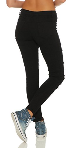 Fashion4Young - Jeans - Femme turquoise turquoise 38 Noir