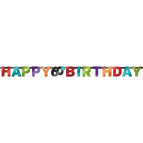 amscan Happy 60. Geburtstag Folie Brief Banner