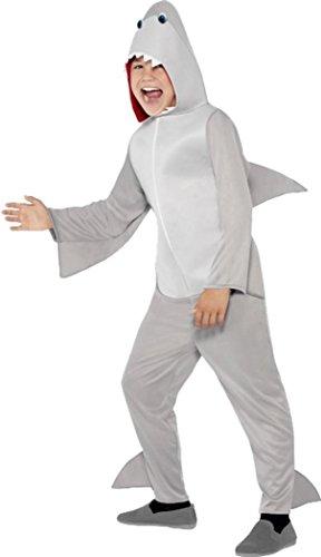 Kinder Buch, Woche Tag Fancy Party Kleid Sea Animal Fish Shark Kostüm Outfit, Grau
