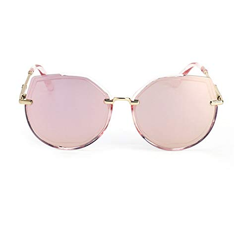Yiph-Sunglass Sonnenbrillen Mode Retro Sonnenbrille Cat Eye polarisierte Gläser Sonnenbrille Golf Fahrrad Angelzubehör UV400 Strandurlaub Sonnenbrille (Farbe : Rosa, Größe : Free)