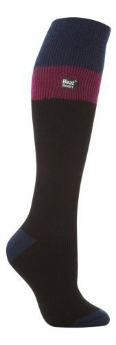 Heat Holders socks - Damen lange thermische Skisocken 37-42 Schwarz (Black/Fuchsia) (Thermo-socken-wärme-halter)