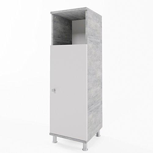 #VICCO Beistellschrank FYNN 95 x 30 cm – Midischrank Badezimmerschrank Badschrank Schrank Regal (Beton)#