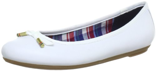 Tommy Hilfiger Cecilia 3 A, Ballerines Femme Blanche