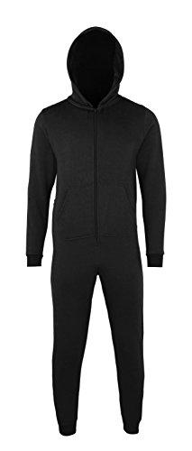 CC01J Kinder Overall Sweatoverall Sweat Anzug Hausanzug Strampler, Größe:12/13;Farbe:Black