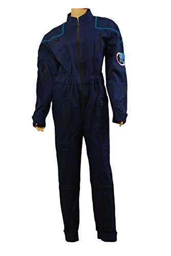 Star Trek Enterprise Duty Jumpsuit Uniform Cosplay Kostüm Blau Herren (Uniform Star Enterprise Kostüm Trek)
