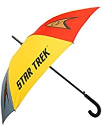 Star Trek Emblems Stick Umbrella - Official Licensed Star Trek Umbrella by LOVARZI