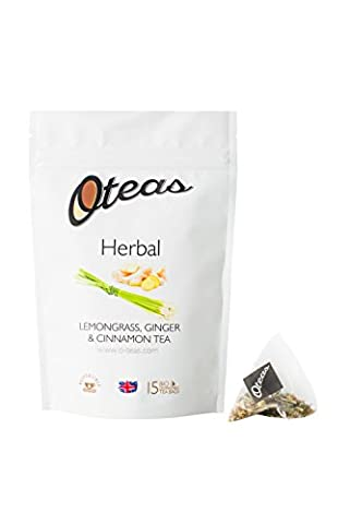 Oteas Herbal Tea Lemongrass Ginger & Cinnamon Pouch (Pack of 3, 45 Tea Bags)
