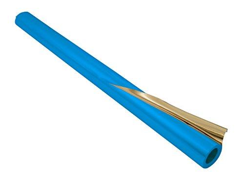 folia R 13 - Alufolie auf Rolle, doppelseitig kaschiert, ca. 50 cm x 10 m, blau / gold - ideal zum Basteln und  Verpacken