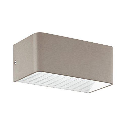 EGLO Wandleuchte, Aluminium, Integriert, Nickel-matt, 20 x 10 x 8 cm -