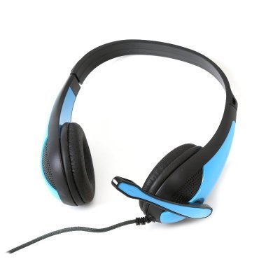 Price comparison product image OMEGA FREESTYLE Headphones+Microphone PC GAMING FH4008BL Blue