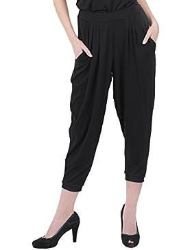 Miu Sutin Bomba Modal Ecológico, Largo Tobillo, Negro, Pantalones para Mujer