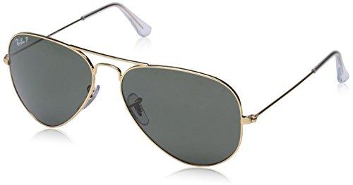 Ray Ban Unisex Sonnenbrille Aviator, Gr. Large (Herstellergröße: 58), Gold (gold 001/58)