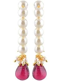 Navbharat Desi Gurl Off-White Pearl Jhumki Earrings For Women (Nb32)