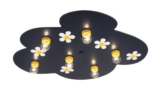 Niermann Standby 662 Deckenschale Flower Power Wölkchen, 54 x 74 x 10 cm, Made in Germany, 1 x E27 - max. 15 Watt, nur Energiesparlampe. Lieferung erfolgt ohne Leuchtmittel.