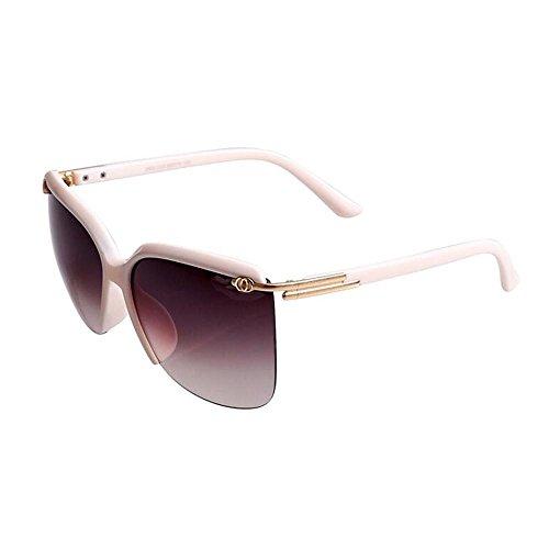 Sonnenbrillen Gradient Halbrahmen Sonnenbrille weibliche Persönlichkeit Sonnenbrille Tide rundes Gesicht zu Fahren mit großem Rahmen und Gläser Schütze Deine Augen (Farbe : B)