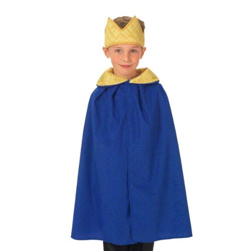 Prinz Und Kostüm König - Unbekannt Charlie Crow Blauer König / Königin Kostüm für Kinder 3-8 Jahre.