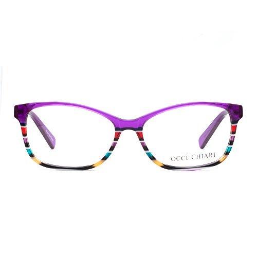 OCCI CHIARI Brillenrahmen Optische Brillen Rahmen Green Brille Optische Gläser Vintage Metall Oval...