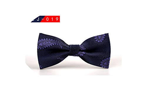 Mens Bow Tie Male Polka Dot Bowtie Necktie Business Wedding Neckties Bowtie,19 Sky Blue Mens Tie