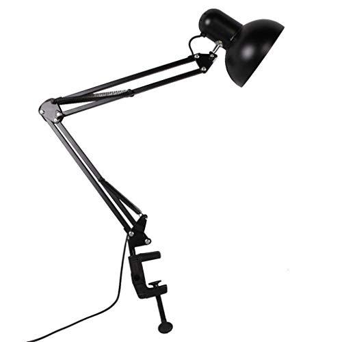 Chengxin Schreibtischlampen Schwarz Tischleuchte Leselampe für Home Office Studio Studie Flexible Swing Arm Clamp Mount Schreibtischlampe Schreibtischlampen -
