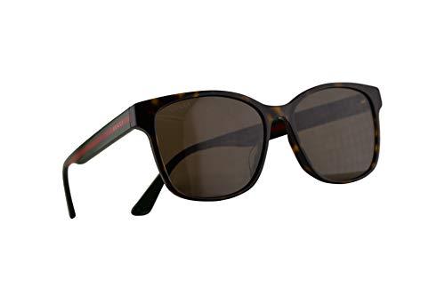Gucci GG0417SK Sonnenbrille Havana Braun Mit Braunen Gläsern 56mm 003 GG0417/SK 0417/SK GG 0417SK