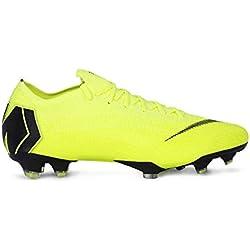 Nike Vapor 12 Elite FG, Zapatillas de Fútbol Unisex Adulto, Verde (Volt/Black 701), 42.5 EU