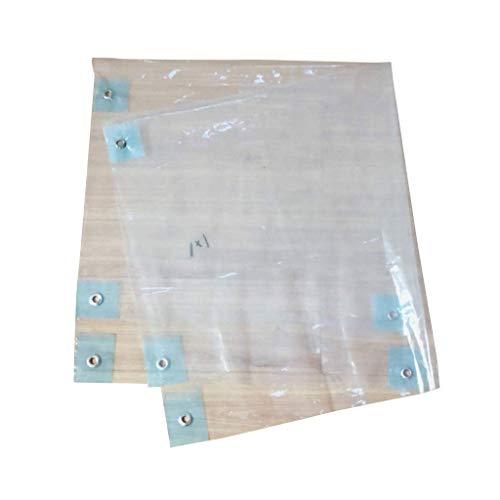 Sgfccyl Planenkante perforierte transparente Folie Gummikante wasserdichtes Tuch Isolierfolientuch Frostschutzplastiktuch transparentes Tuch ohne Tropffoliendichtungsfenster (Size : 4 * 6m) (Frostschutzmittel Ungiftig)