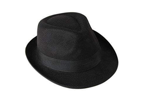 Prefe lana feltro cappello di feltro con fascia in taffetà Black Taglia unica