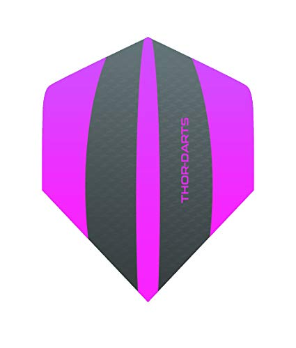 THOR-DARTS Exclusiv-Line: 15 Pink Darts Flights HD-240 F3 pink/grau Dart Flys extra Lange haltbar Thickness > 100 mic (15 Stück (5 Set), pink)