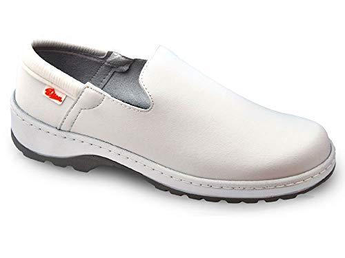 Marsella Blanco Talla 39 Marca DIAN, Zapato de Trabajo Unisex Certificado EN ISO 20347.