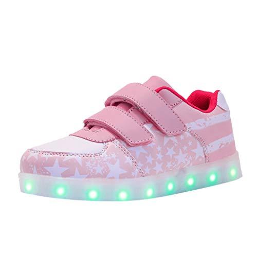 LILIHOT Kleinkind-Säuglings Baby Mädchen USB Breathable LED Leuchtende Sportschuhe Turnschuhe Kindermode Sneaker Freizeitschuhe Wasserdicht Wanderschuhe Outdoor Sneaker -